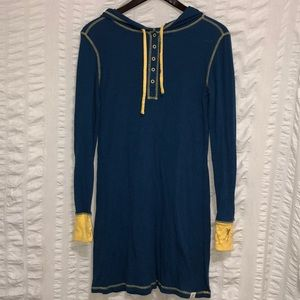 Munki Munki Blue & Yellow Sleep Shirt